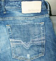 HOT Men's DIESEL @ ZATINY Art 8QL BOOTCUT Button Fly DISTRESS Denim Jeans 29 x30