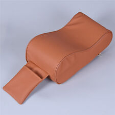 Universal PU Leather Car Armrest Pad Cover with Phone Pocket Interior Part Brown