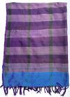 "Hand woven Striking Purple & Blue Scarf Ethiopia - 28"" x 74"""