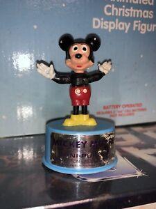 Vintage Walt Disney Push Puppet Lot Mickey Donald Pluto Pinocchio Mt Case Fresh