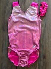 NWT GK Elite Shimmer Pink Ombre Front Gymnastics Leotard Child & Adult Sizes