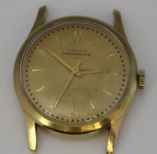 GENUINE JUNGHANS VINTAGE VERY RARE CHRONOMETER 18K GOLD WATCH CASE 33 mm