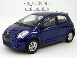 4.25 inch 2007 Toyota Yaris - 1/34 Scale - Diecast Model by Welly - BLUE