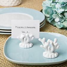 Marque-place Mer corail assorti Mariage fêtes thème de corail blanches fête