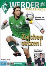 Werder Magazin + 23.01.2010 + Bremen vs. FC Bayern München + 250. Ausgabe +