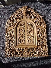 Large Hand Carved wood Ornate Floral Baroque style Picture Mirror Frame