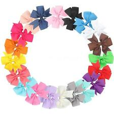 20Pcs Sweet Colorful Lovely Bowknot Hair Clip for Baby Girls and Infants V6M7