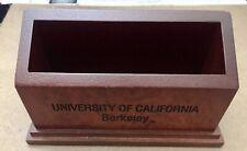 Cal Berkeley Wooden Business Card Holder