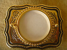 Blank Gold Colored  BELT BUCKLE  for  MORGAN or PEACE Silver Dollar!  USA made!