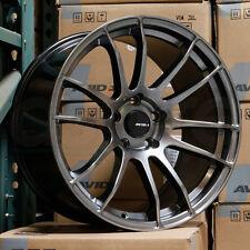 18x9.5 AVID1 AV-20 AV20 5x100 38 Hyper Black Wheels Rims Set(4)