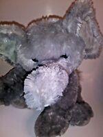 "Aurora Gray  Elephant  18"" Plush Stuffed Animal"