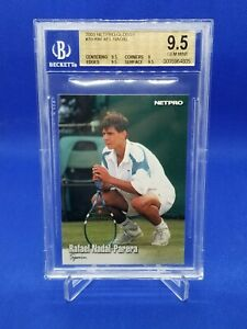 BGS 9.5 GEM MINT Rafael Nadal 2003 NETPRO GLOSSY RC G70 ROOKIE CARD RC pop 2