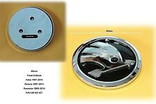 90mm Front Skoda Complete Badge 5JD853621 Fabia Octavia Rapid Roomster New