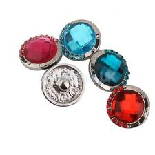 5x Crystal Rhinestone Drill Charms Snap Button Charms for DIY Jewelry Finding