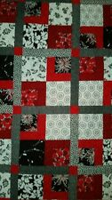 Red and Black Garden Quilt Wall Art