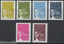 Y&T n° 3570-3575 Marianne de Luquet - les 6 valeurs de 2003  NEUFS **