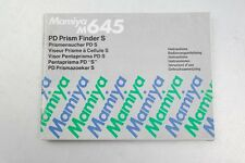 Mamiya M645 PD Prism Finder S Instruction Manual++English++Original++NICE