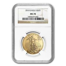 2010 1/2 oz Gold American Eagle MS-70 NGC - SKU #62530