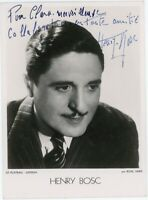 French Movie Actor Henry Bosc antique signed photograph