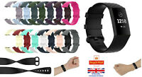 For Fitbit Charge 4 Strap Replacement Silicone Wristband Band Watch Wrist Straps