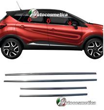 MODANATURE CROMATE ADESIVE VW POLO 6R 2009/>2017 Cornici Finestrini Acciaio Cromo