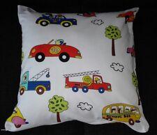Kissenhülle, Kissenbezug 40x40 cm, Fahrzeuge, Autos, für Kinder, Handarbeit, neu