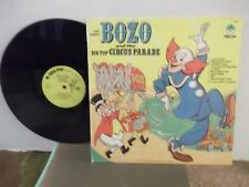 """""""Bozo and the Big Top Circus Parade"""",Peter Pan,US,LP,stereo,TV soundtrack,Mint-"""
