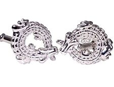 ALLIGATORS CUFFLINKS, STERLING SILVER by G.DANILOFF & CO.