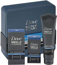 Dove Men +Care Face Care Essentials 3 PC Gift Set Tin (Cream, Balm, Moisturiser)
