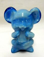 Boyd Glass Willie the Mouse Peacock Blue