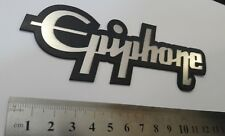 Epiphone plastic logo new style badge silver color 135 mm = 5.3''