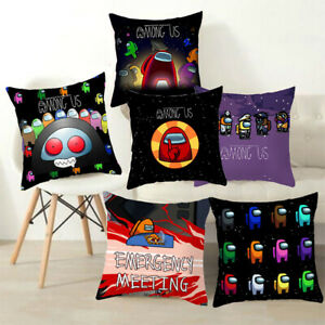 Among Us Game Pattern Pillow Case Waist Throw Cushion Covers Bedroom Sofa Decor