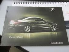 MERCEDES BENZ CLASSE E coupè prospetto brochure 83 pagine ITALIANO