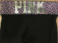 PINK Pants Yoga By Victoria's Secret Women's Size Small Purple And Black