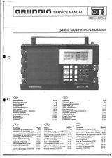 Grundig Service Manual per satellite 500