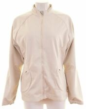 ADIDAS Womens Tracksuit Top Jacket Size 18 XL Off White Polyester  HO12