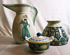 Vintage Italian Pottery, Group of Three, Two Signed