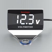 Motorrad Auto LED Weiß Digital Voltmeter Spannungsmesser Batterieanzeige