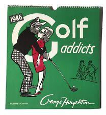 VINTAGE The Golf Addicts GEORGE HOUGHTON CALENDAR 1986 - some calendar entries