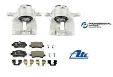 For Volvo S60 V60 Set of Rear Left & Right Brake Calipers & Brake Pad Set