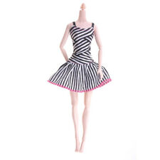 Causal Wear Clothes For Barbies Dolls Pink Princess Black Bowknots Short Dress 9