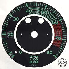 PORSCHE 356 A B 1955 a 1963 VDO 8000 RPM TACHIMETRO QUADRANTE Faccia Adesivo