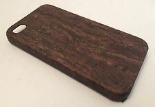 Apple Iphone 4 4S cover case protective hard back wood grain wooden oak brown