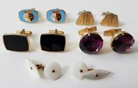 Bundle Of Vintage Cuff Links Costume Jewellery N.G.T Day & Night  + More