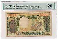 CAMEROUN banknote 10.000 Francs 1974 PMG VF 20 Very Fine