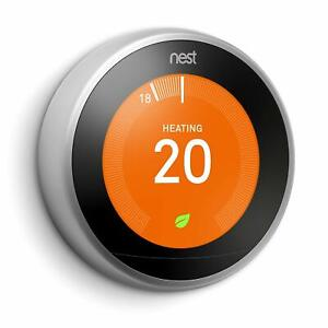 Nest Third Generation Learning Thermostat - Black, Copper, Steel, White
