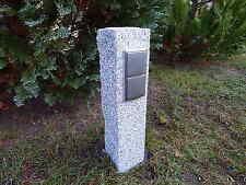 Gartensteckdose Granit Außensteckdose Energiesäule z.B für Weihnachtsbeleuchtung
