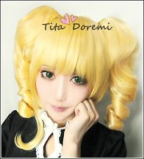 Halloween Wig Cosplay Black Butler Elizabeth blonde party fashion Hair