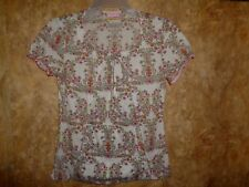 Skechers FLORAL SCRUB TOP SIZE S (2 POCKETS)  STYLE: 25739
