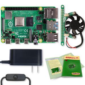 Raspberry Pi 4 Model B Essentials Kit with Fan  -  2GB, 4GB or 8GB